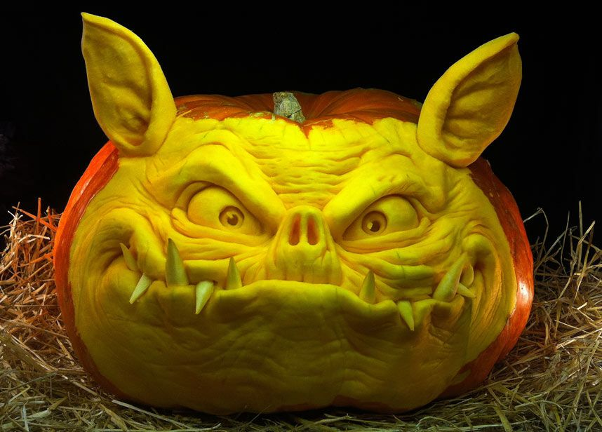 Halloween Jack OLanterns Carved Out Of Pumpkins By Ray Villafane - Mind blowing pumpkin carvings by ray villafane 2