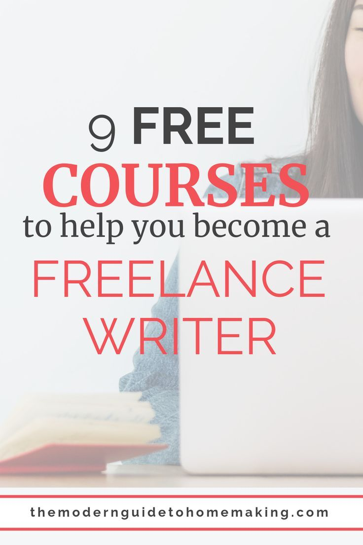 9 free courses to make you a freelance writer with no