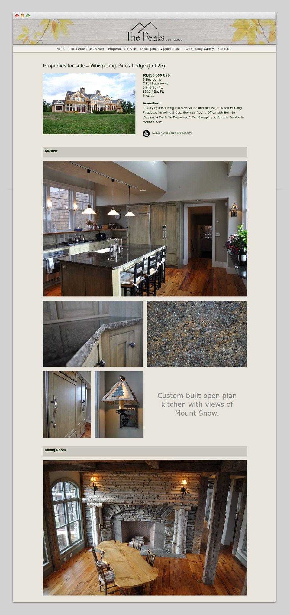 Property and Development website Property, Open plan kitchen