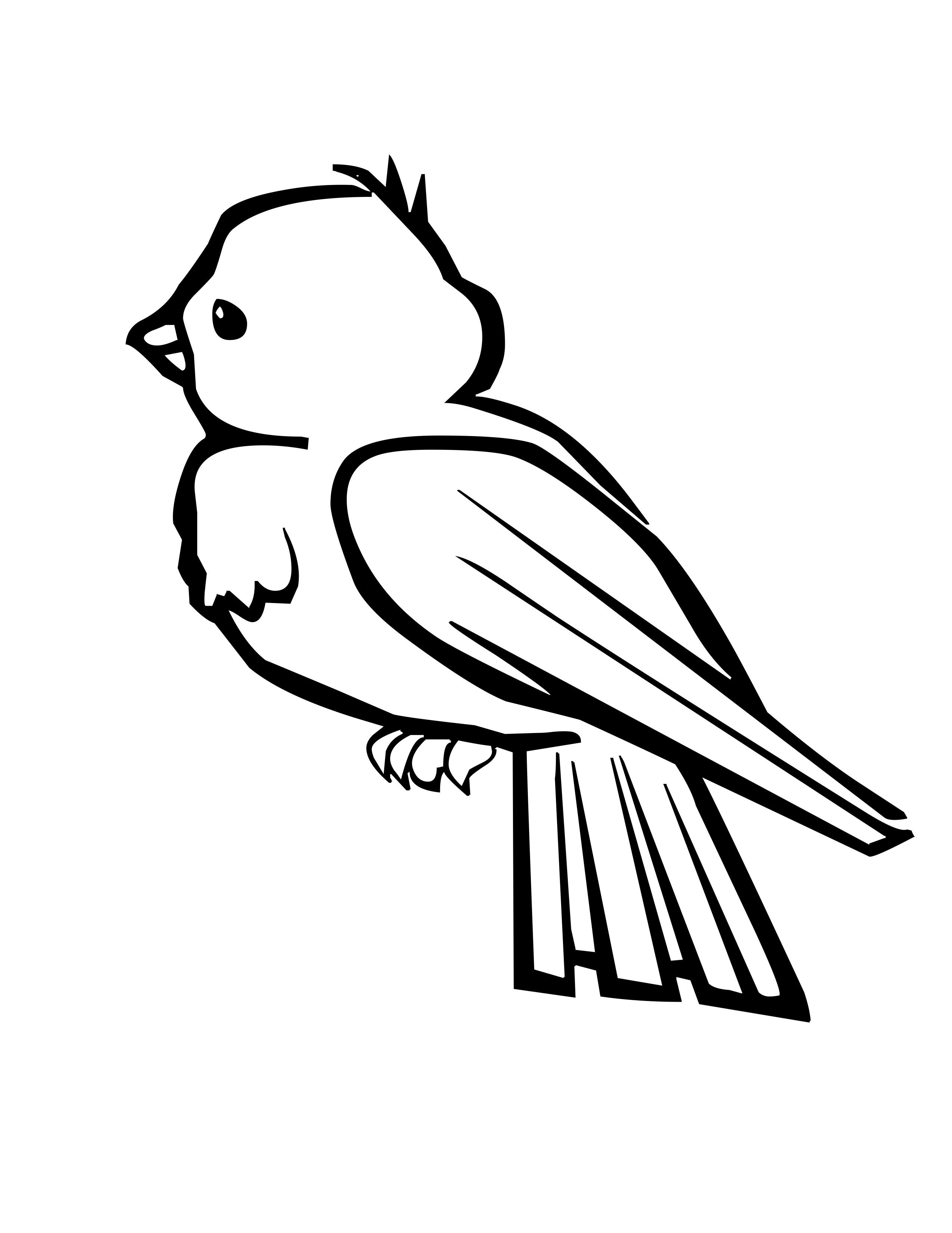 Bird Coloring Pages With Images