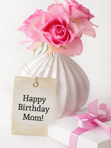 Pink Rose Happy Birthday Card For Mother Birthday Greeting Cards By Davia Birthday Cards For Mother Birthday Wishes For Mother Birthday Greetings For Mother