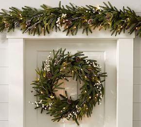 Pre Lit Gold Leaf Magnolia Wreath Amp Garland Pre Lit
