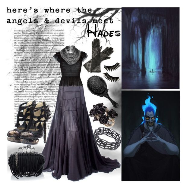 """""""Disney Inspired: Hades"""" by beograd-love ❤ liked on Polyvore featuring Disney, Nervous System, Max and Cleo, Boohoo, Chanel, Vionnet, Rodarte, Alexander McQueen and Fannie Schiavoni"""