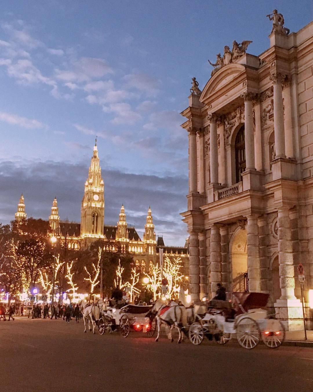 Christmas In Austria 2019.Christmas Market At City Hall Vienna Austria Fantasy 3