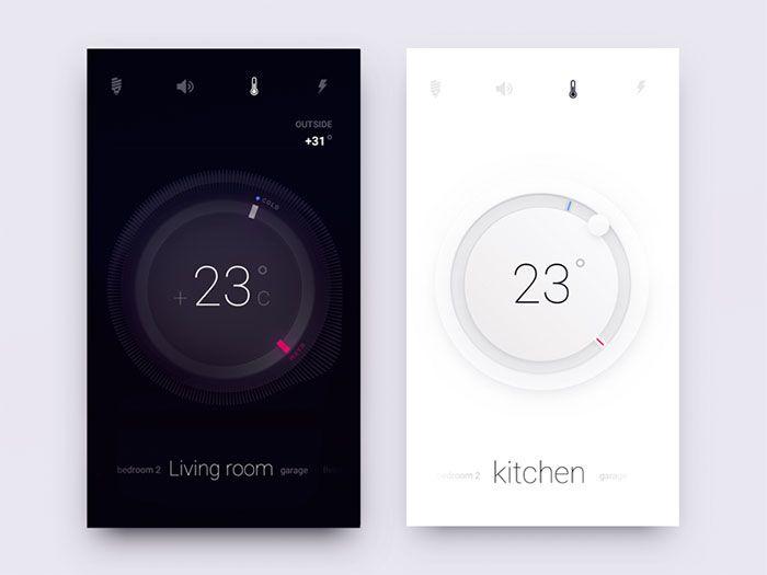 Smart Home Controls | UI Design | Pinterest | User interface, Ui ...