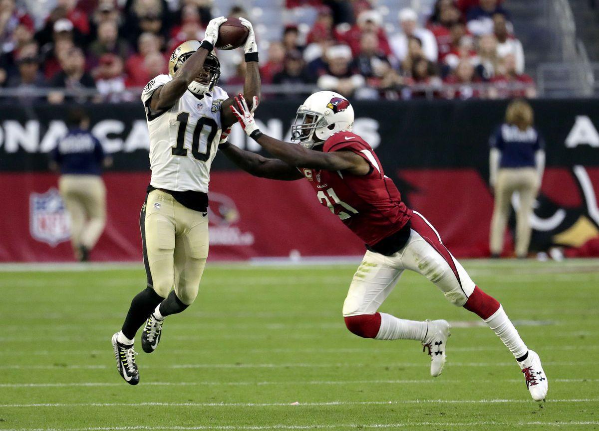 How Saints Worked Their Way Around Patrick Peterson Arizona Defense In Win Vs Cardinals Cardinals Saints New Orleans Saints