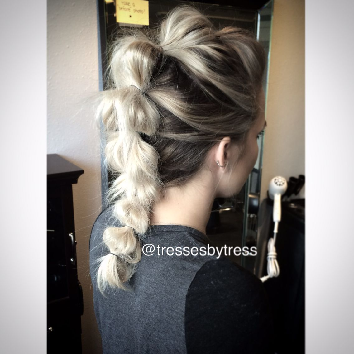 Fauxhawk ponytail