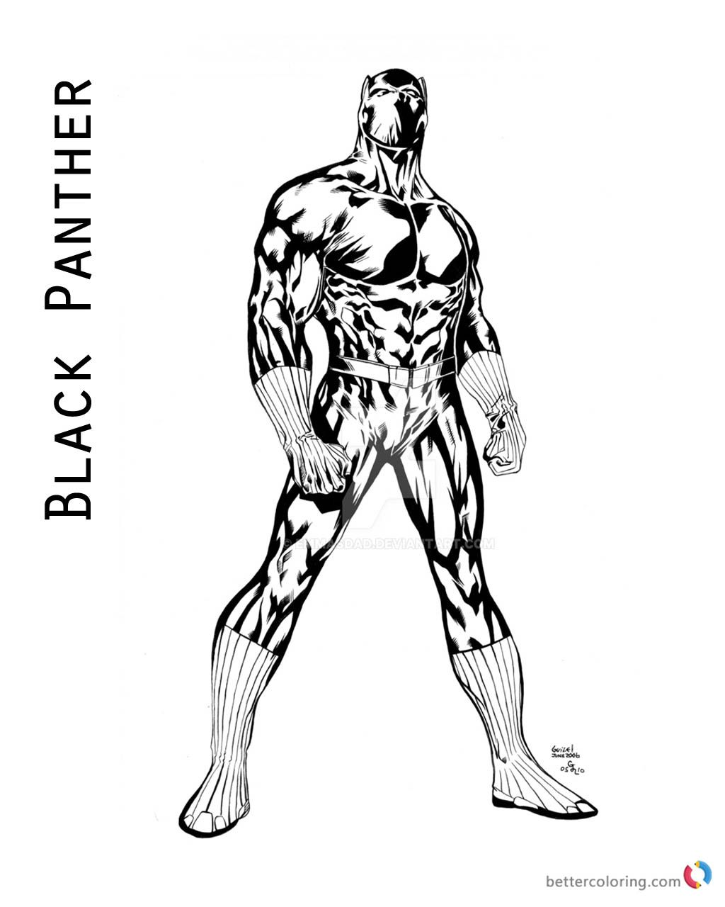 Black Panther Coloring Pages Of Marvel Movie Free Printable Best