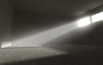 Illuminate a simple warehouse interior in 3DS Max with Mental Ray: indirect lighting, camera glare, volume light.