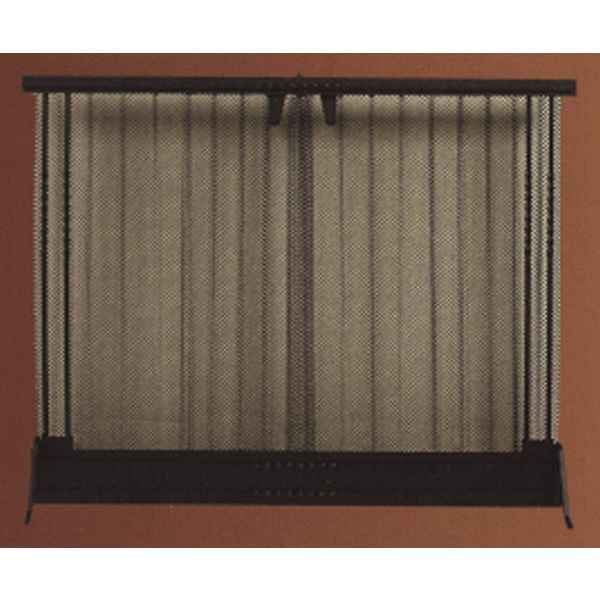 Manual Standing Curtain Screen 38 X 30 Fireplace Screens