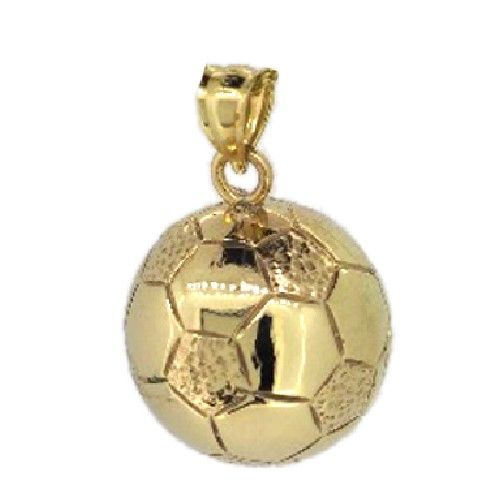14kyelloworwhitegold3dsoccerballcharm3252 soccer yellow or white gold soccer ball charm 3252 soccer charms sports activities charms gold and silver charms mozeypictures Image collections