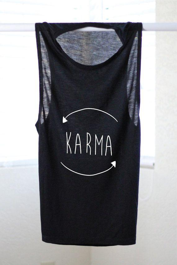 7c0d0272fb Karma Flowy Muscle Tank Yoga Shirt Flowy tank by ArimaDesigns ...