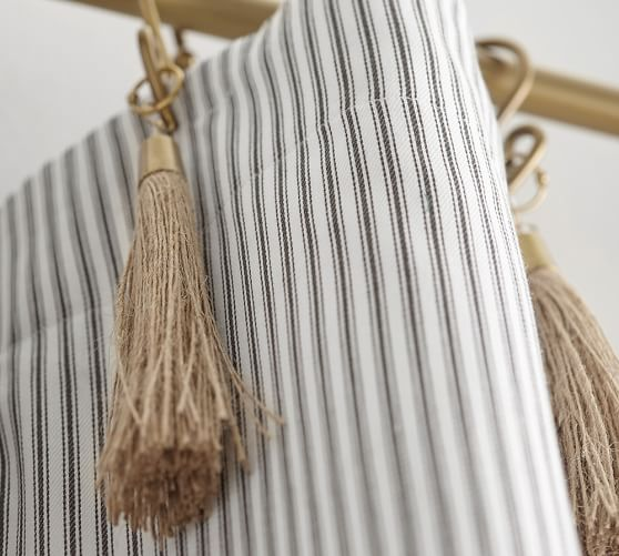 The Emily & Meritt Ticking Stripe Curtain With Hook And