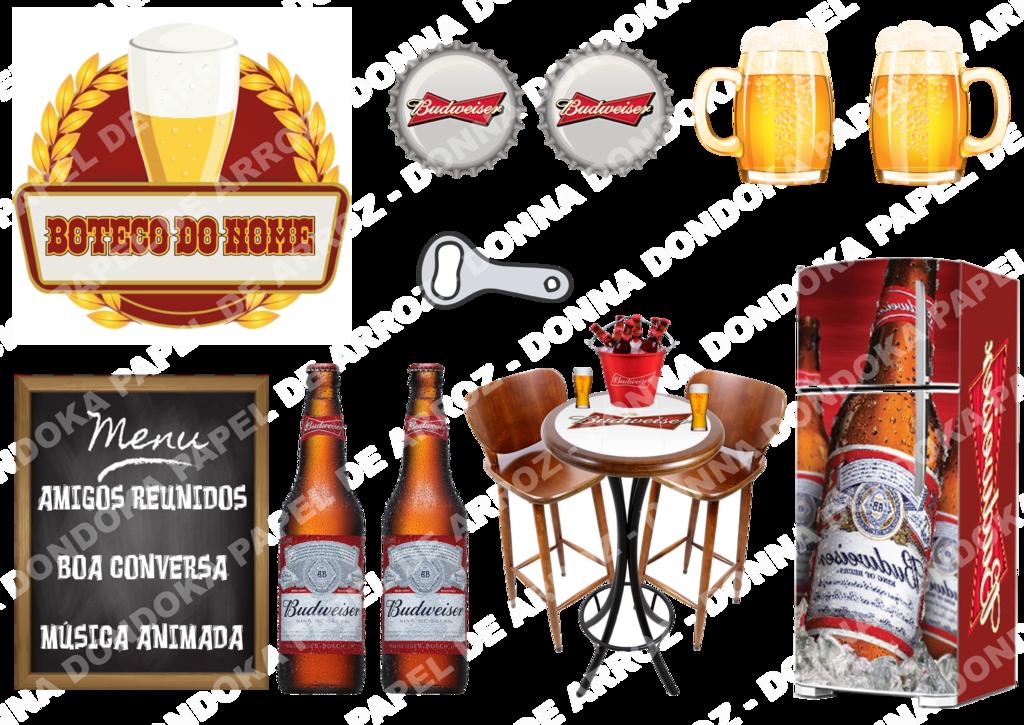 Boteco Budweiser Topo De Bolo Budweiser Para Imprimir