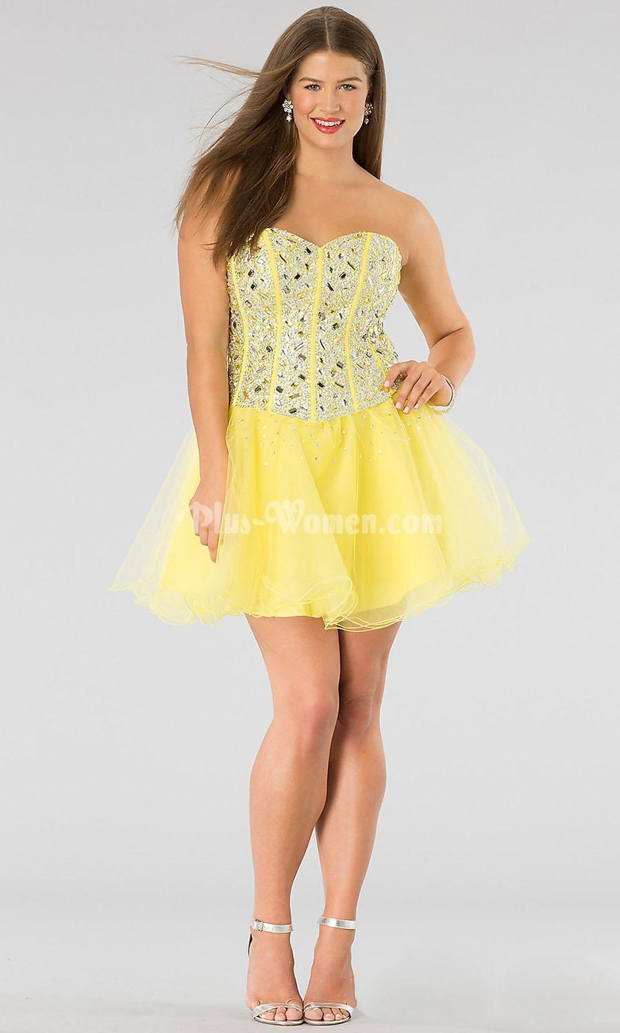 plus size mini prom dresses