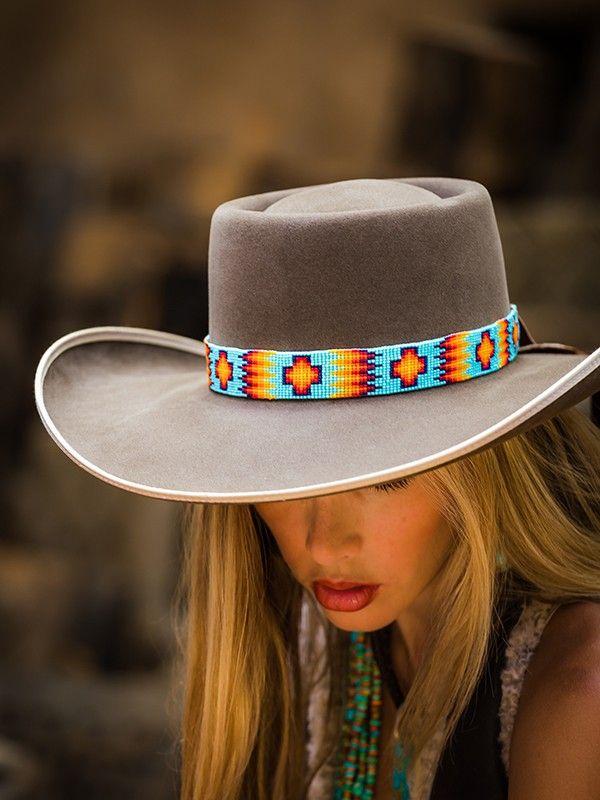 Seafoam Cowboy Hats Beaded Hat Bands Cowgirl Hats