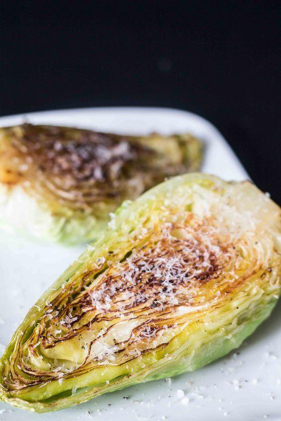 Stegt spidskål med parmesan #slankemadopskrifter