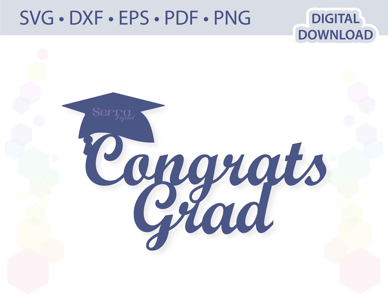 Graduation Cake Topper Congrats Grad Cake Topper Congrats