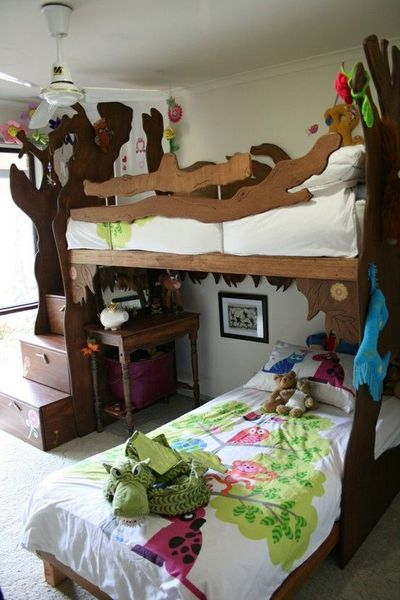 treehouse bunk bed | cool! 'treehouse bunk bed'samantha birch