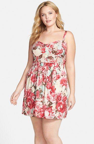 Jessica Simpson  Avette  Floral Print Sundress (Plus Size) available at   Nordstrom c04f9de0f