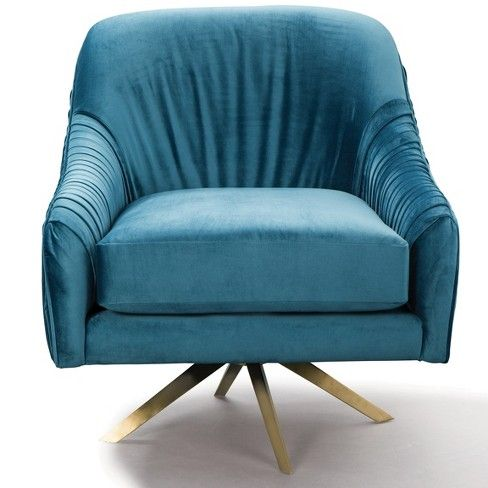 Berkley Home Pleated Mid Century Upholstered Swivel Chair ... on Blue Fox Outdoor Living id=16100