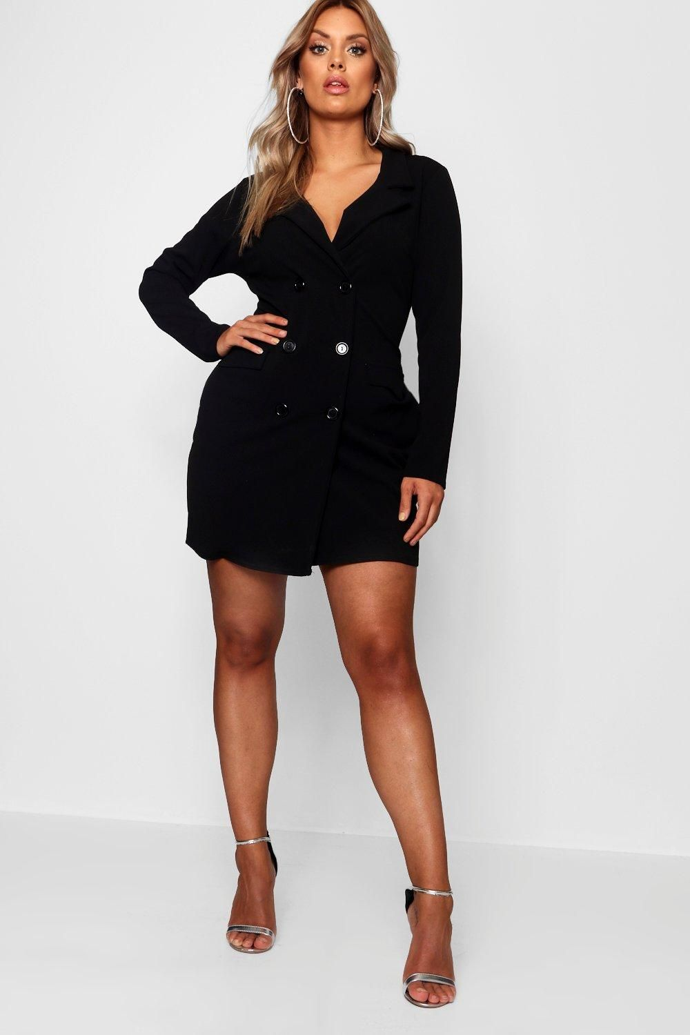 1ed75482824 Click here to find out about the Plus Scuba Blazer Dress from Boohoo