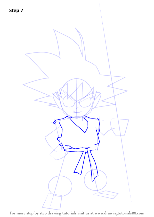 Learn How To Draw Son Goku From Dragon Ball Z Dragon Ball Z Step By Step Drawing Tutorials Dragon Ball Z Dragon Ball Goku Drawing