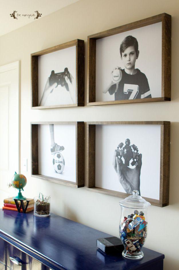 Create A Bold Custom Wall Art Gallery For A Boy S Room