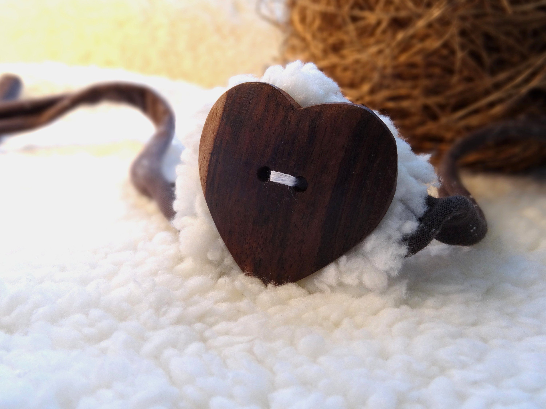 Newborn Headband Wooden Heart Baby Photo Prop Hairband