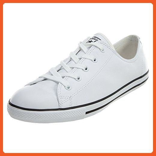 44aa888015a481 Converse Women s Chuck Taylor Dainty Leather Low Top Sneaker White 7 M -  Sneakers for women ( Amazon Partner-Link)