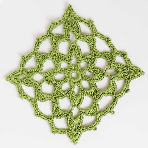 Lacy Block by   Iin Wibisono - This pattern is available as a free Ravelry download   L.O.V.E.