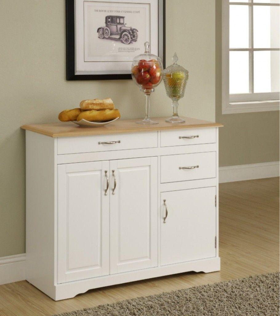 Small White Kitchen Buffet Cabinet