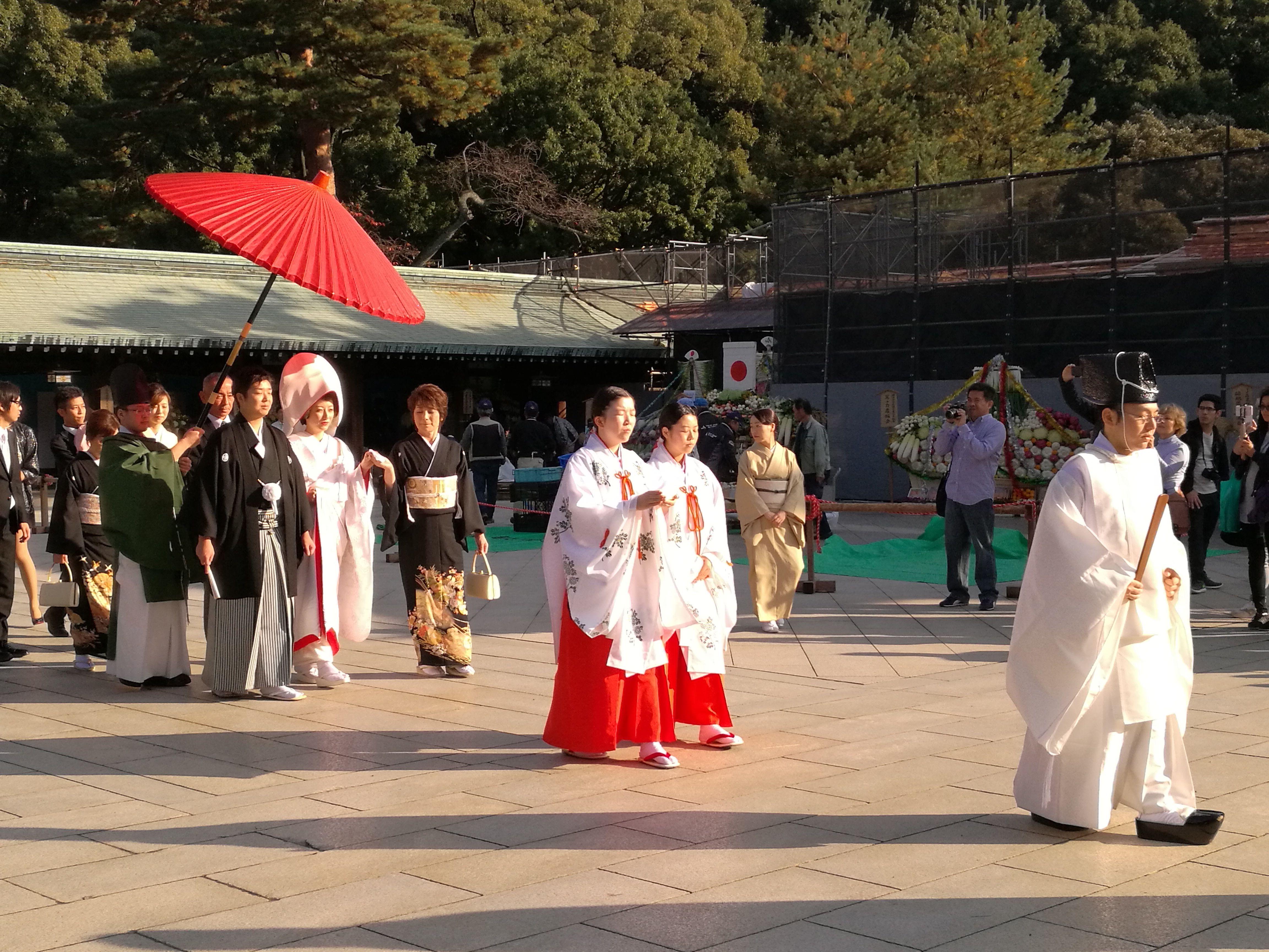 Boda en el parque Meiji