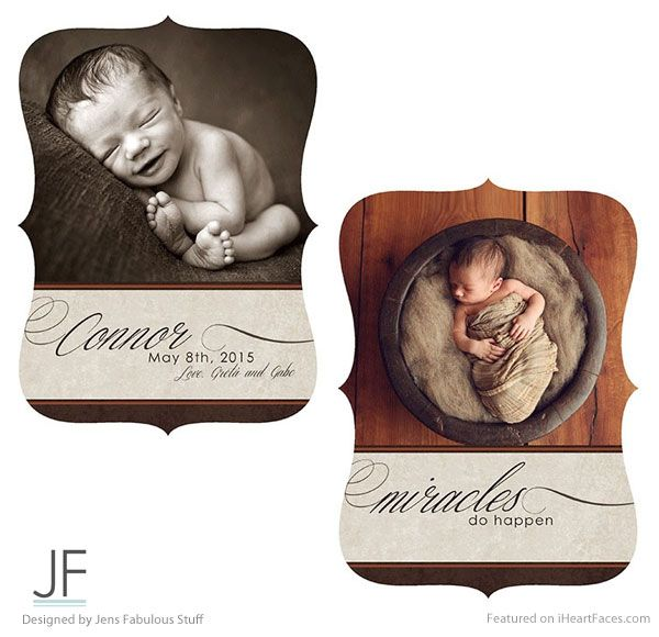 Boutique Style Free Birth Announcement Template - 14+ Free Birth - announcement template free