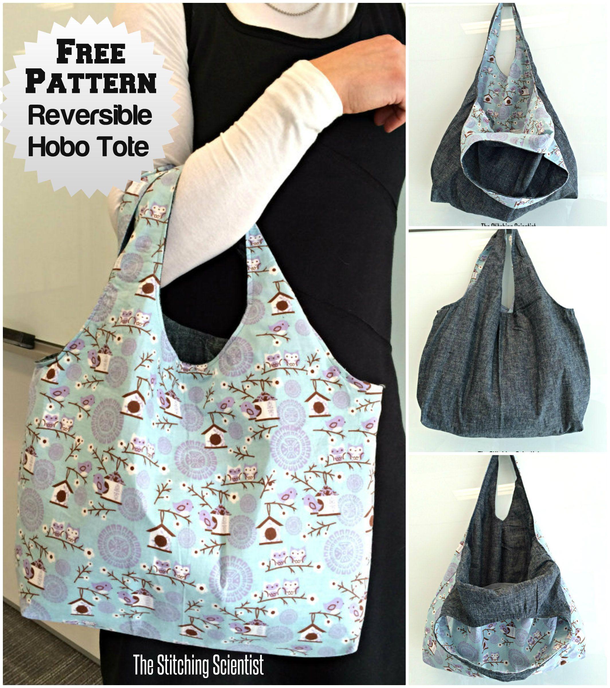 Reversible Hobo Beginner Bag Pattern  71fc9a9dfa951