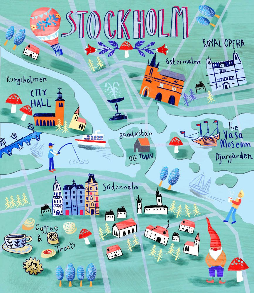 Illustration And Design Kate Rochester Illustrated Maps
