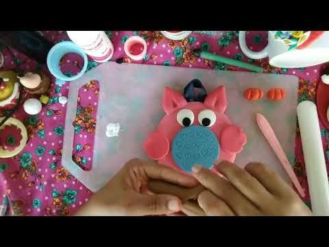 DIY- Porta pano de prato coruja em biscuit #biscuitiniciante #semmolde #feitoamao - YouTube