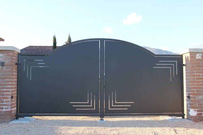 Cancello In Ferro Moderno.Cancelli Moderni Modello 1 Bagnorus Steel Gate Design Main