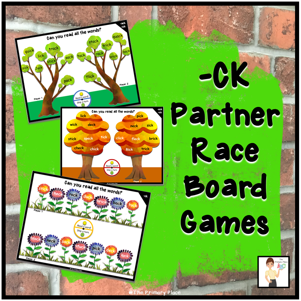Do Your Students Need More Practice Reading Ck Words These Partner Board Games Can Be Used As Centers Small Small Group Activities Small Groups Board Games [ 960 x 960 Pixel ]