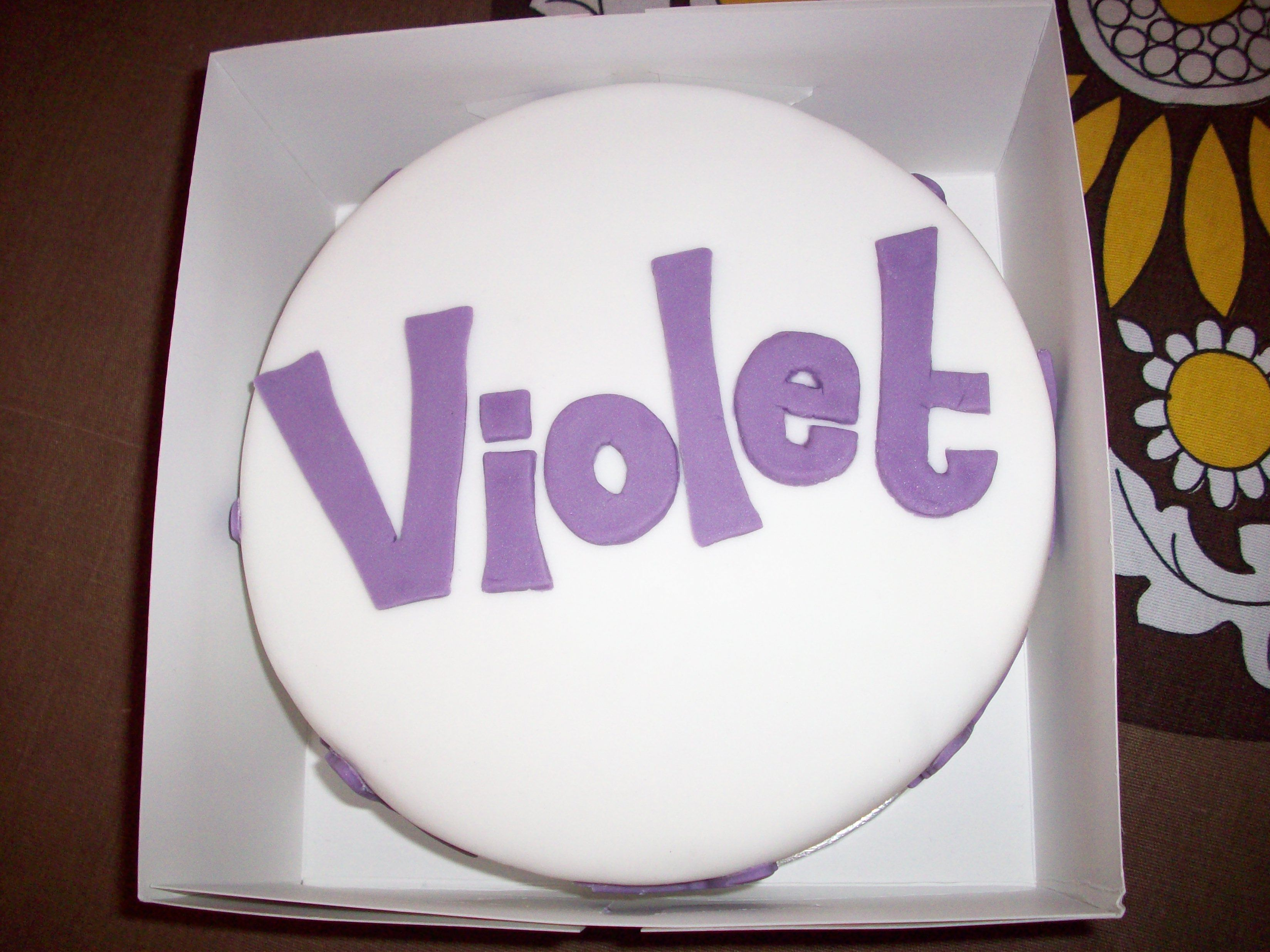Iced Fruitcake For Baby Violet S Naming Day Cake