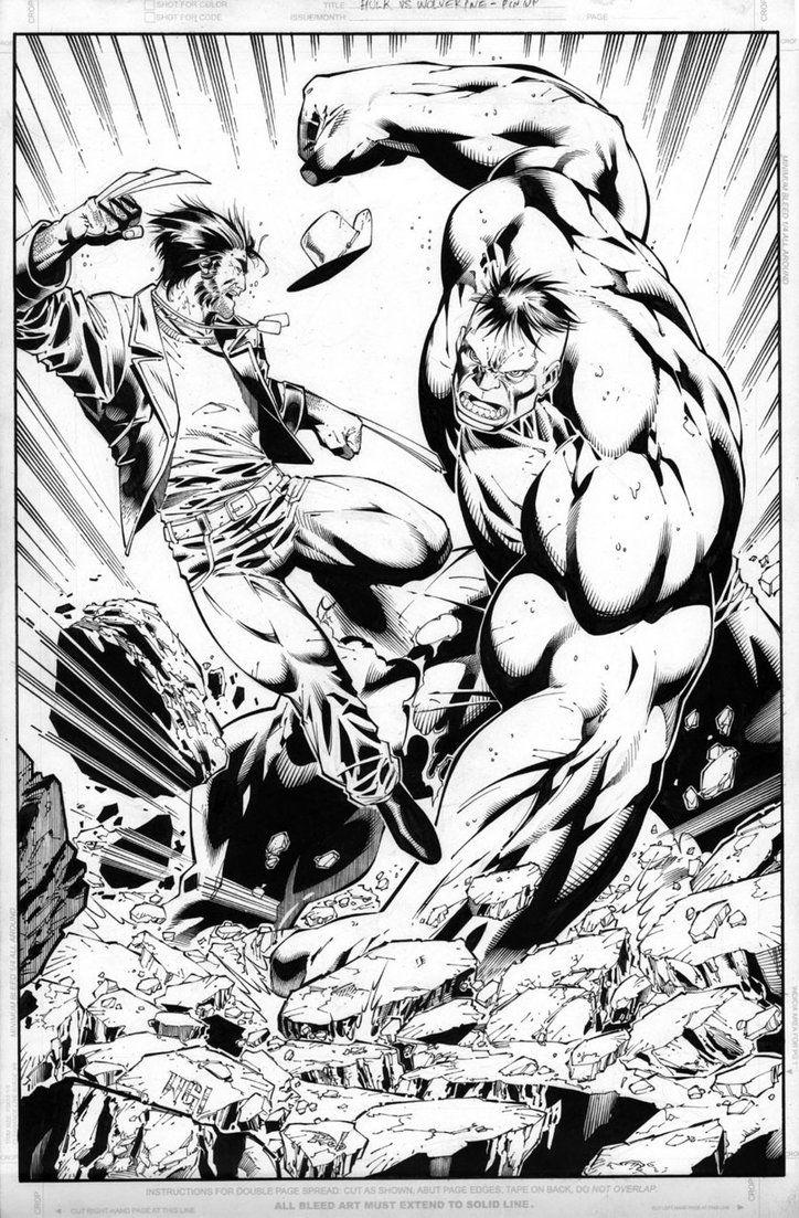 wolverine vs the hulk walter geovani comic art walter