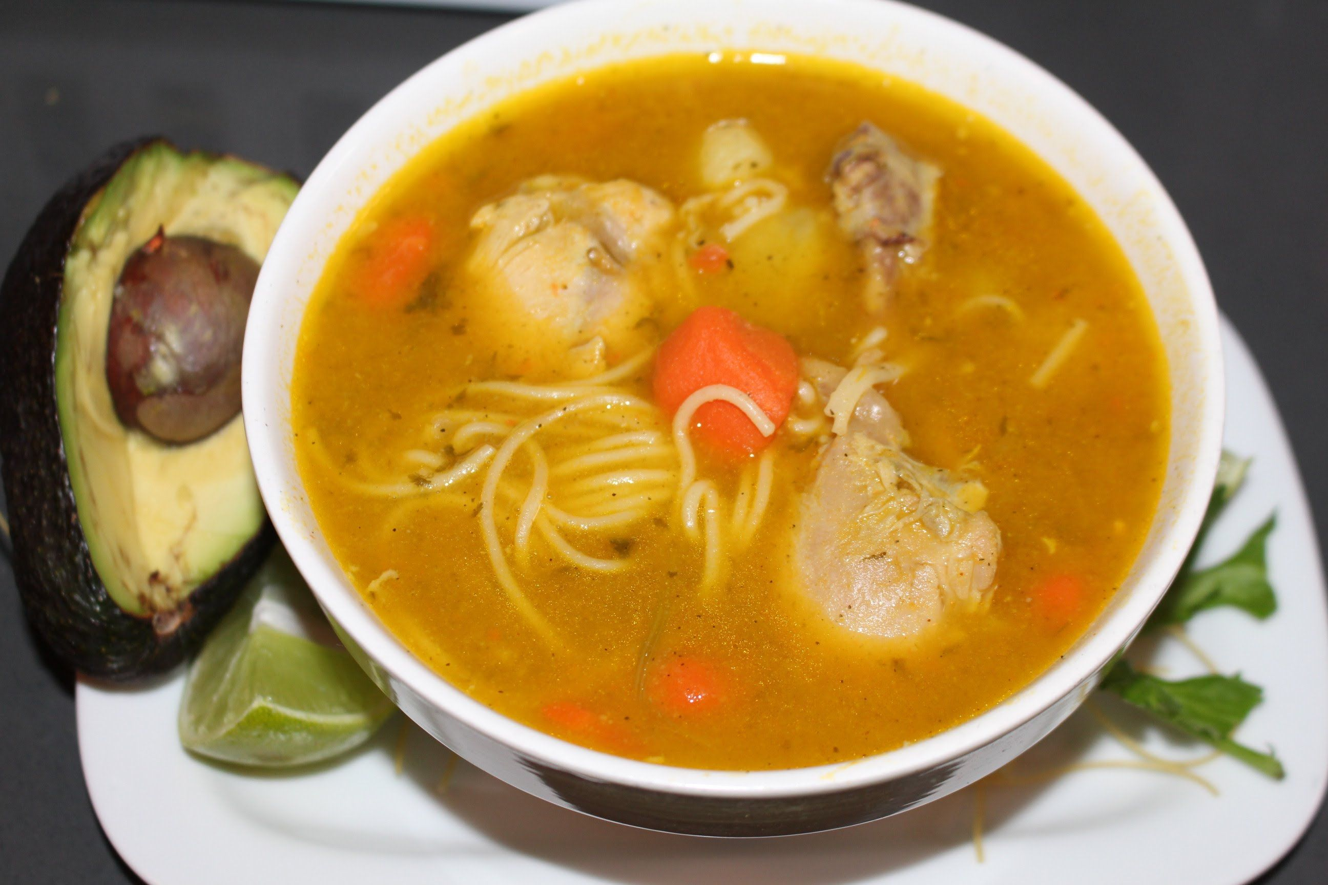 Chicken noodle soup dominican style dominican food pinterest chicken noodle soup dominican style forumfinder Choice Image
