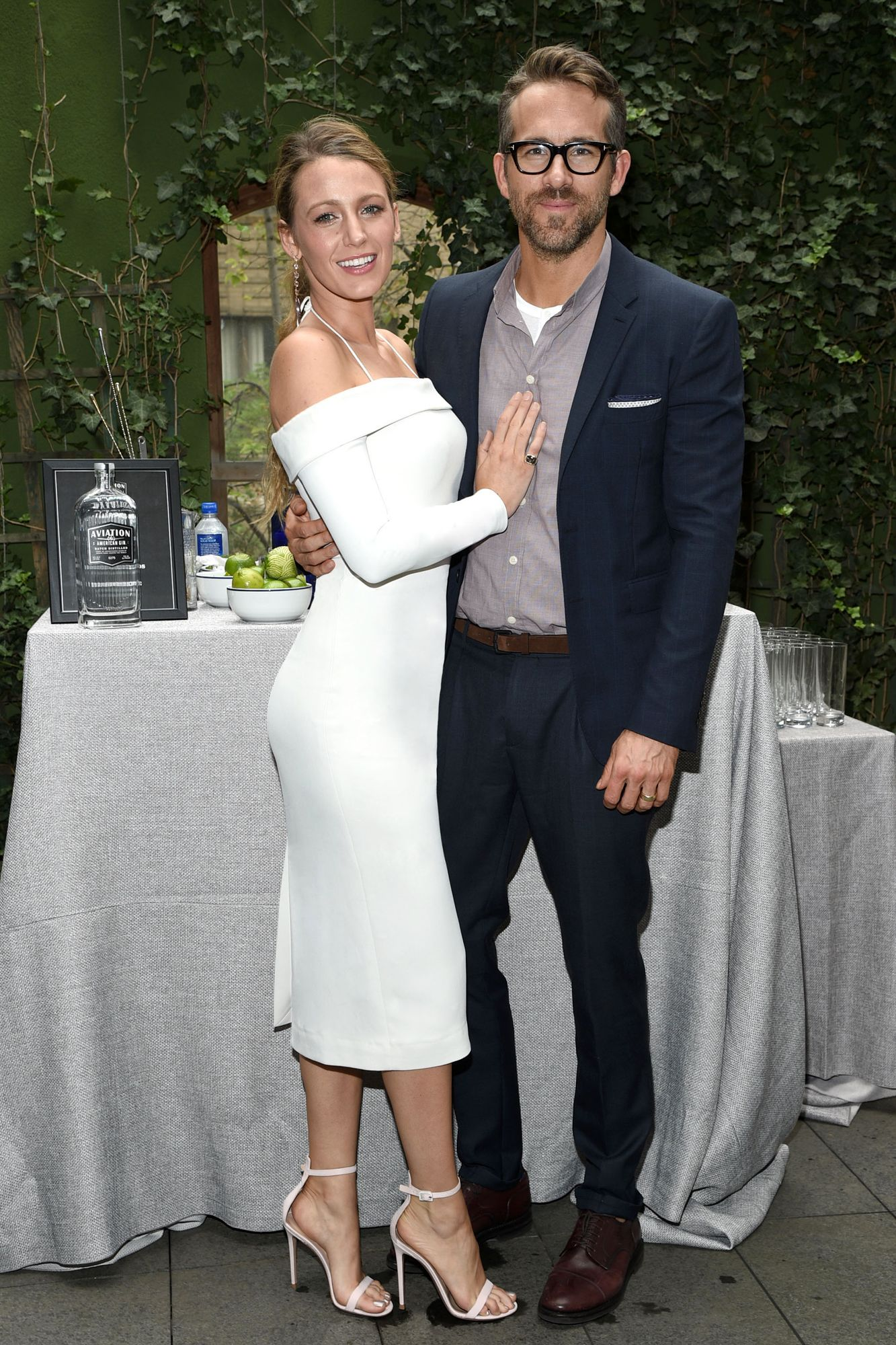 Blake Lively Attends Ryan Reynolds' N.Y.C. Work Event