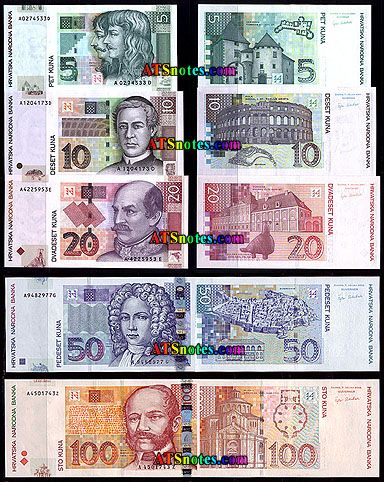 Croatian Money Croatian Flag Croatian Money Croatia