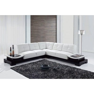 Leather White Sectional With End Tables U778 Sec Global Furniture Built In End Tables Mypriceforyou Com A Sectional Sofas Living Room Luxury Sofa Sofa Design