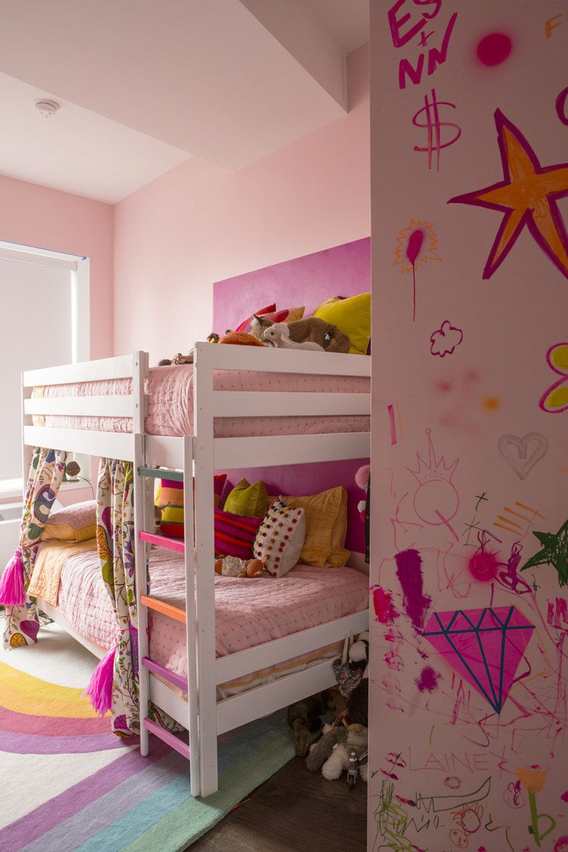 This Kids' Room Is Complete With A Graffiti Wall For