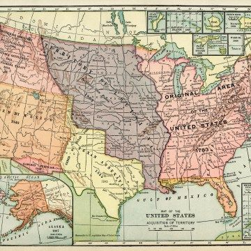 United States map, vintage map download, antique map ...