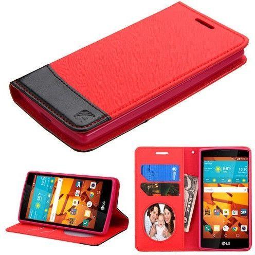 MYBAT Book-style 2-tone Wallet LG Volt 2 Case - Red/Black