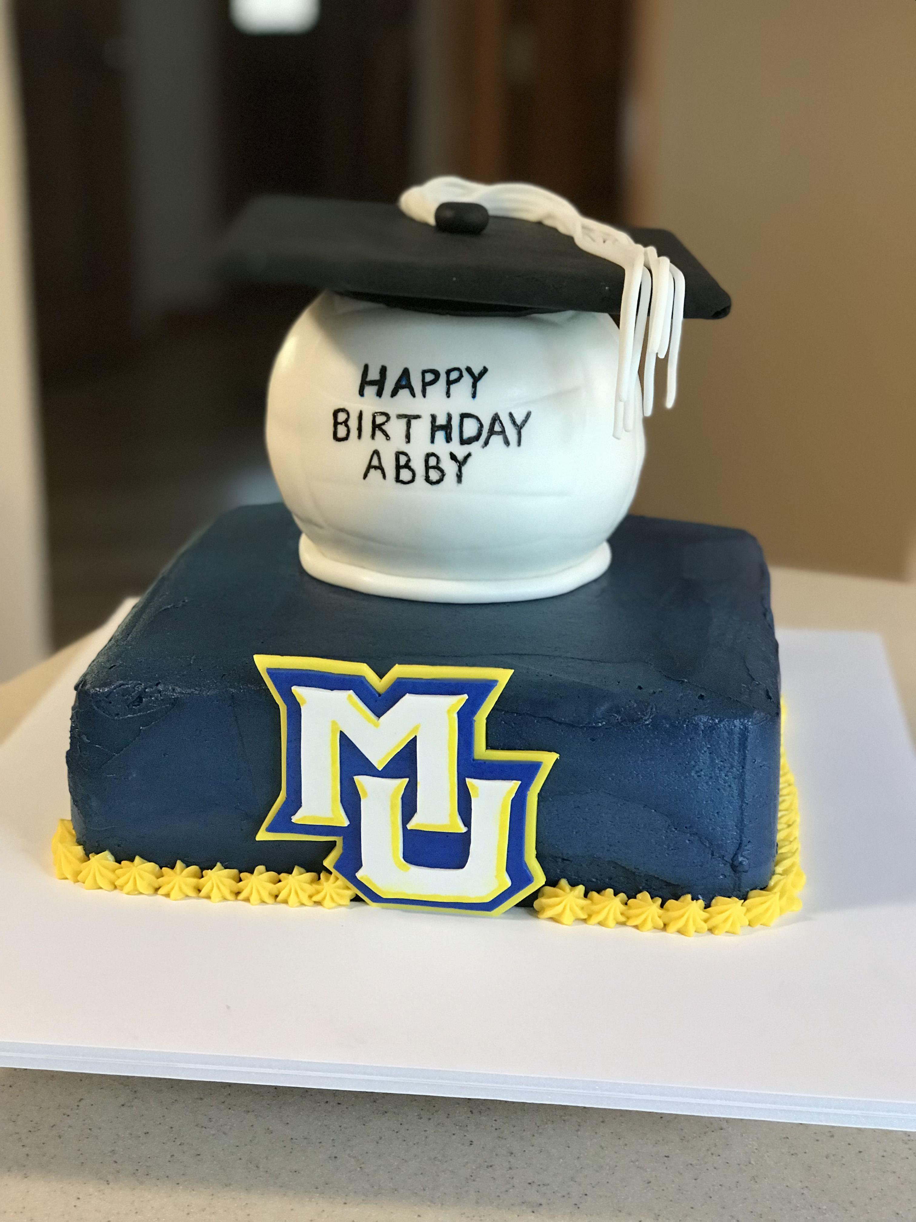 Groovy Marquette University Graduation Birthday Cake City Cake Grooms Personalised Birthday Cards Beptaeletsinfo