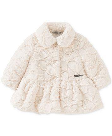 Calvin Klein Faux Fur Peplum Coat Baby Girls 0 24 Months Macys Com Faux Fur Coat White Faux Fur Coat Calvin Klein Baby